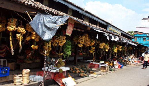 Galle, mercato.