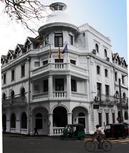 Queen's Hotel antico albergo di Kandy.