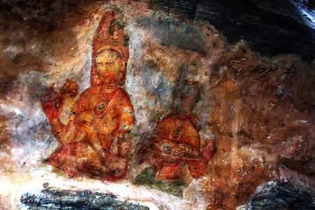 Pitture rupestri di Sigirya.