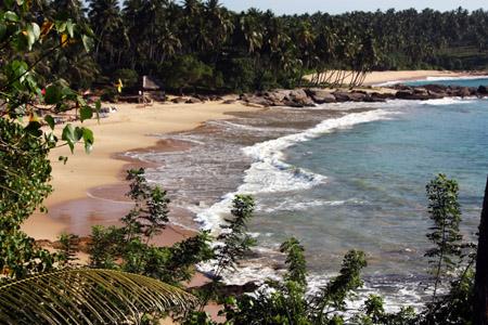 Tangalle, spiaggia.
