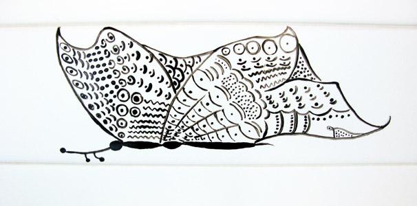 piastrella farfalla grande