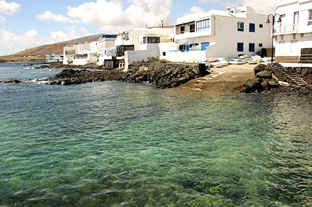 Lannzarote nord est. Arrieta, case di pescatori.