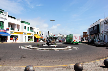 Playa Blanca; il centro.