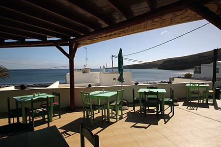 """La tradizionale trattoria """"7 Islas"""" a Playa Quemada."""