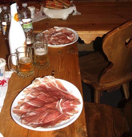 Friuli ristoranti fette prosciutto