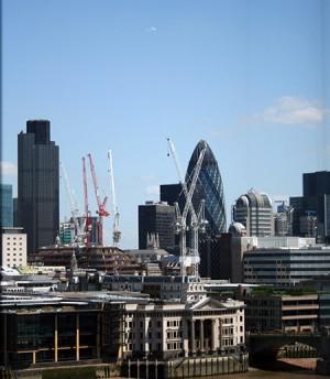 Londra, panorama sui nuovi grattacieli dalla Tate Modern Gallery