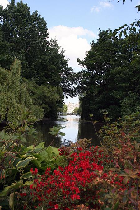 Londra, parco in estate