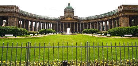 San Pietroburgo, cattedrale della Madonna di Kazan sulla Nevskij prospect.