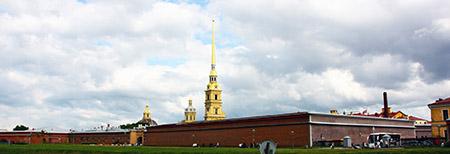 San Pietroburgo, la Fortezza dell'isola corrispondente al primo nucleo della città.