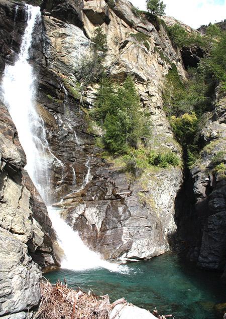 Cogne, cascata di Lilliaz.