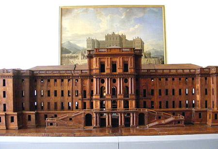 Venaria Reale, modello in legno.