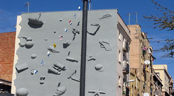 Barcellona casa con sculture