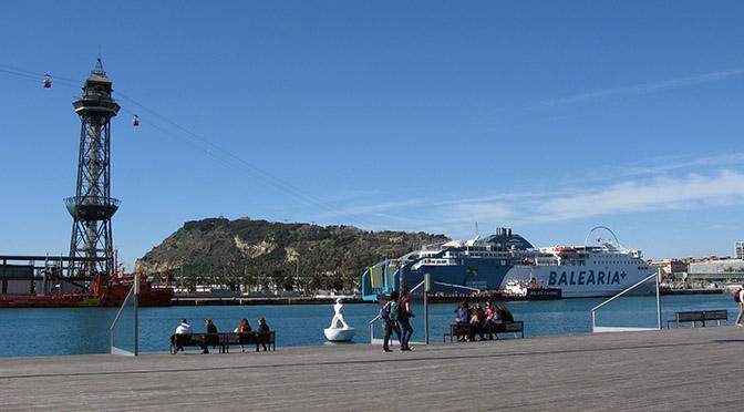 Barcellona funivia sul mare