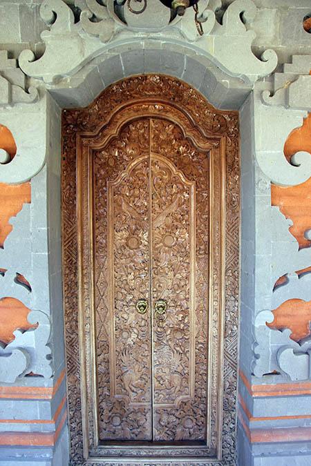 Bali casa privata particolare di una porta