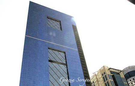 Qatar grattacieli blu