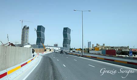 Qatar grattacieli gemelli blu