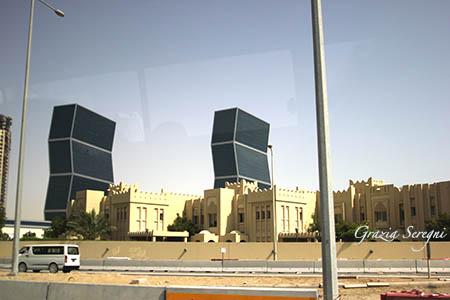 Qatar torri grattacieli blu n