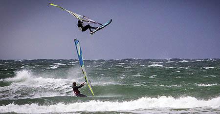 Danimarca  Windsurfer ved Munkerup