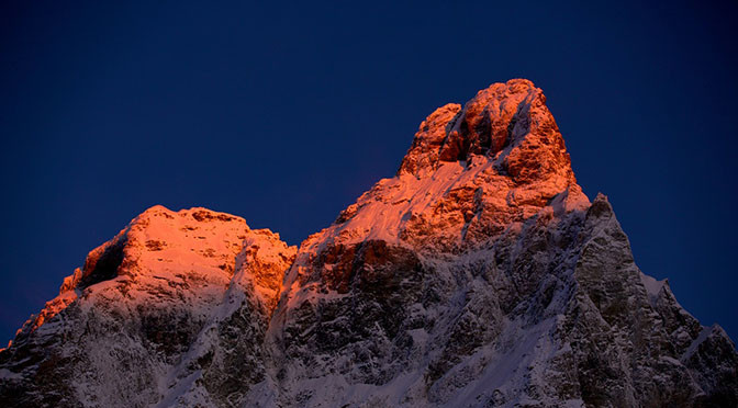 672 MONTAGNA neve vario Alba sul Cervino