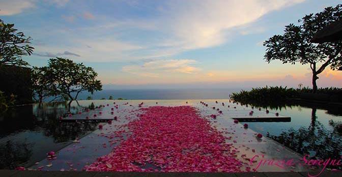 GRAZIA ARTE Bali firma 672 Bulgari fiori esotico tramonto ok ok