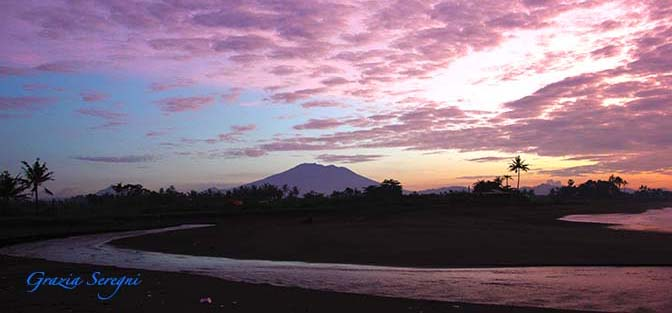 GRAZIA ARTE firma Bali 672 ok ok alba rosa esotico panorama az