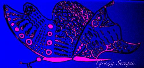 arte Grazia ok GRAZIA firma 500 ARTE RIDOTTI 500 FARFALLA BLU ROSA