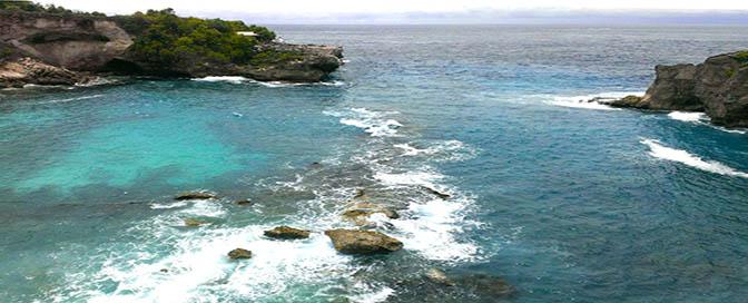 Mare 672 rocce Bali Lembongan Lagun ablu