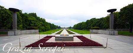 San Pietroburgo firma Piskarevskoe cimitero della memoria prospettiva generale