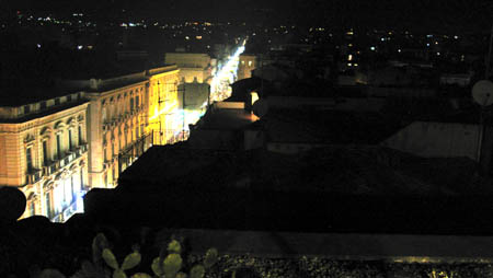 Catania Hotel Una hotels vista dla terrazzo