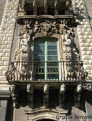Catania Monastero Benedettini decori esterni f