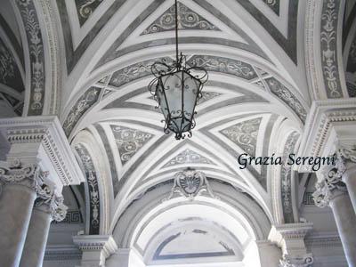 Catania Monastero dei benedettini decorazioni lussuose