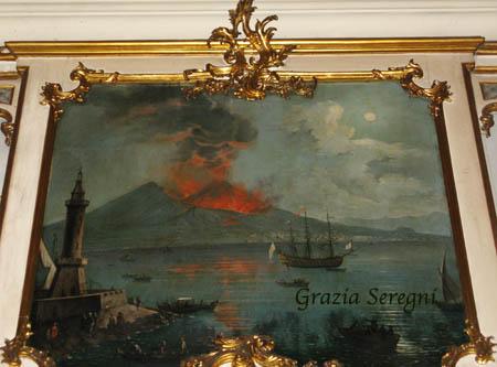 Catania Palazzo Biscari 450 quadro antico vulcano vesuvio