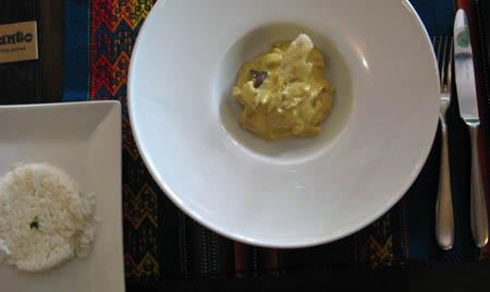 Ristorante cibo Peruviano Incanto piatto