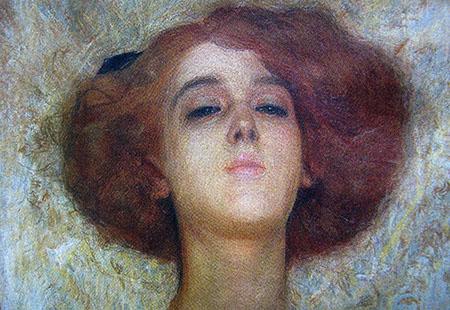 ARTE LIBERTY Giovanni Carpanetto, Giovinezza, 1909, pastello
