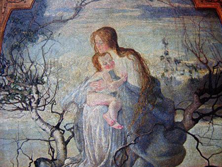 ARTE LIBERTY Giovanni Segantini, L'angelo della vita, 1894, olio