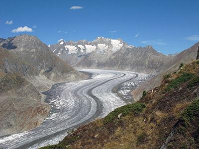 Riederalp il ghiacciaio dell'Aletsch.