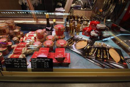 Lione mercato banco di foie gras