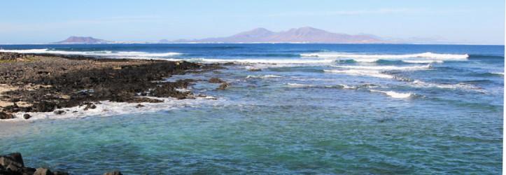 Lanzarote vista da Fuerteventura.