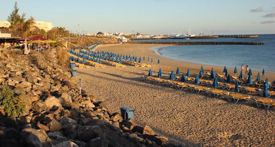 Playa Blanca. La spiaggia denominara Playa Dorada.