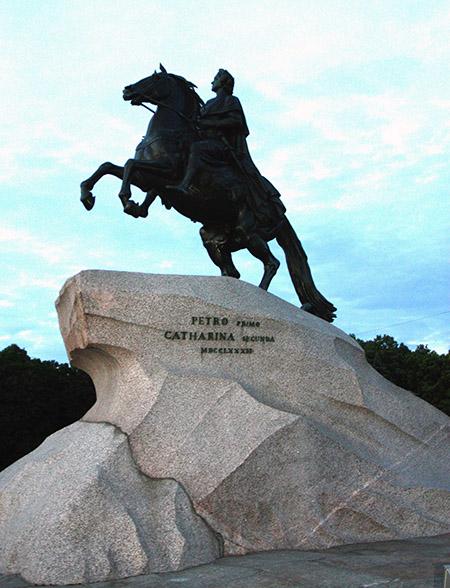 San Pietroburgo, monumento a Pietro il Grande..