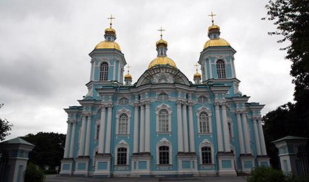 San Pietroburgo, cattedrale di San Nicola, parte posteriore.