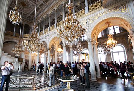 San Pietroburgo, Ermitage; salone delle feste.