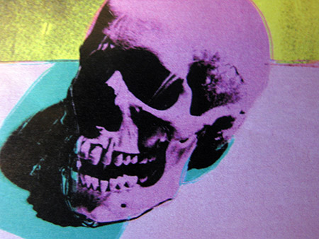 Andy Warhol; Skull (1976) particolare
