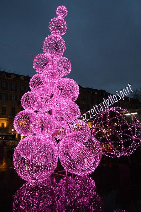 Festival delle luci per le vacanze di Natale.