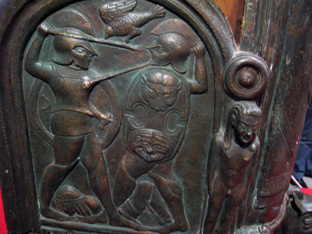 Monteleone. Particolare della Biga etrusca.