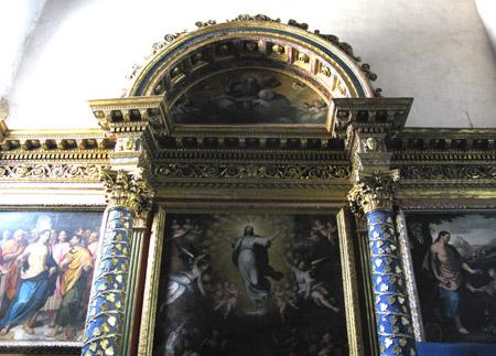 Cascia. Chiesa di San Francesco, coro ligneo trecentesco