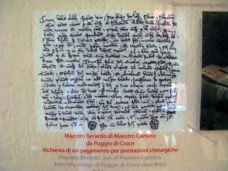 Preci.Museo della chirurgia preciana.