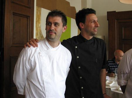 """Chef di """"VESPASIA"""", ristorante dell'hotel Palazzo Seneca. Relais & Chateaux."""