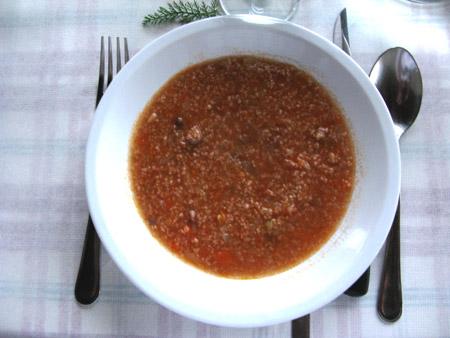 Casale Sant'Antonio, zuppa di farro.
