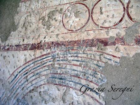 Monteleone. Affresco del chiostro, nell'antico complesso di San Francesco.